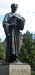 <i>Dante Alighieri</i> (Ximenes) sculpture by Ettore Ximenes