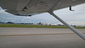 Daytona Beach International Airport - Daytona Beach International Airport terminal as seen from a Cessna 172.