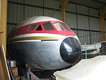 De Havilland Comet 4C G-BEEX nose section, NELSAM, 27 June 2015.JPG