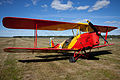 De Havilland Tiger Moth on land @ Ljungbyhed 01.jpg