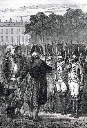 10 August (French Revolution) - Louis XVI inspecting loyal troops