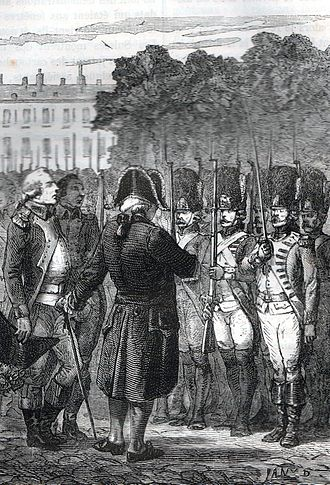 Insurrection of 10 August 1792 - Louis XVI inspecting loyal troops