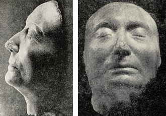 Marie Louise Gonzaga - Death mask of Marie Louise.