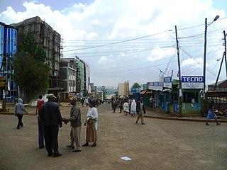 Debre Marqos Place in Amhara Region, Ethiopia