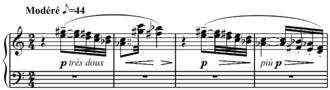Voiles - Image: Debussy Voiles, Preludes, Book I, no. 2, mm. 1 4