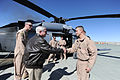 Defense.gov News Photo 110308-D-XH843-022 - Secretary of Defense Robert M. Gates shakes hands with members of the Pedro Medevac unit at Camp Leatherneck in Afghanistan on March 8, 2011.jpg