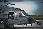 Defense.gov News Photo 120720-D-TT977-032 - Deputy Secretary of Defense Ashton B. Carter gives a thumbs-up prior to an aerial tour of Guam in a U.S. Navy HS-60B Sea Hawk on July 20 2012.jpg