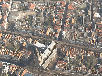 Oude Kerk (Delft) - The church from above