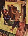 Derkovits, Gyula - Organ-grinder, Wandering Fire-eater (1927).jpg