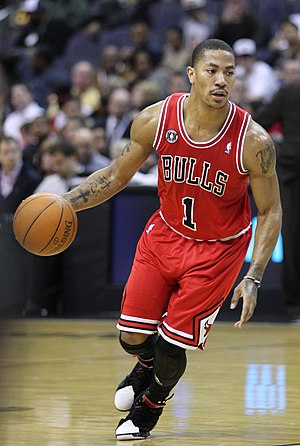 Derrick Rose - Rose with the Bulls in February 2011