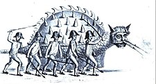 Tarasque of Tarascon, 1846 drawing