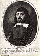 Engraving of Descartes by Balthasar Moncornot