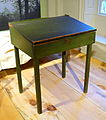 Desk at Walden Pond owned by Henry David Thoreau, Concord, 1838, painted pine - Concord Museum - Concord, MA - DSC05629.JPG
