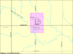 Detailed map of Waldo, Kansas.png