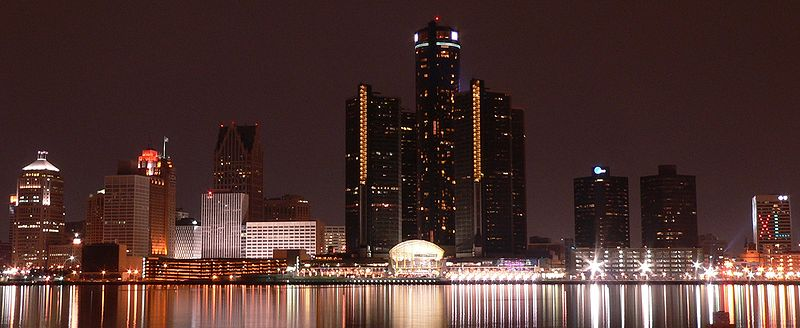 The Detroit International Riverfront in January 2006