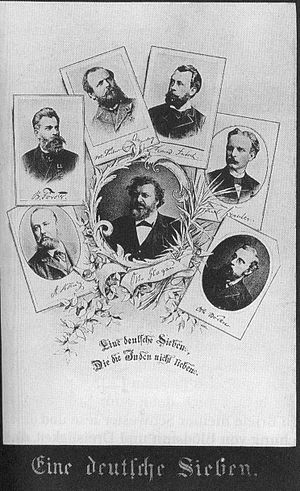 Bernhard Förster - Bernhard Förster (2nd left) among other German antisemitic writers, ca. 1880