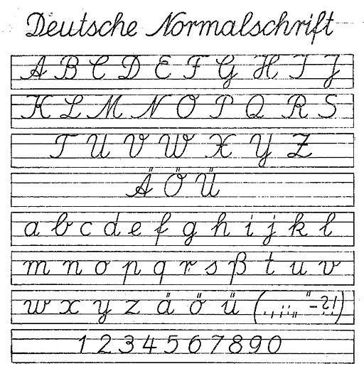 Deutsche normalschrift ab 01091941