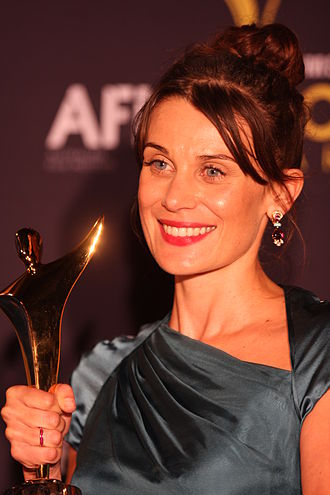 AACTA Awards - Actress Diana Glenn with an AACTA Award in 2012.