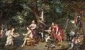 Diana and her nymphs after the hunt, by Jan Brueghel the elder, Hendrik van Balen I.jpg