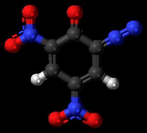 Diazodinitrophenol - Image: Diazodinitrophenol 3D balls 2