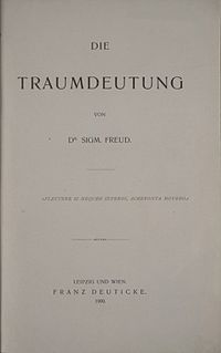"Cover of the original German edition of Sigmund Freud's ""Die Traumdeutung"""