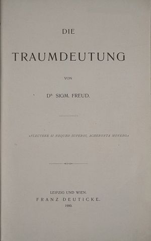 The Interpretation of Dreams - Title page of the original German edition