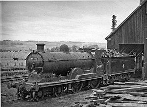 Dingwall railway station - Dingwall engine shed in 1957