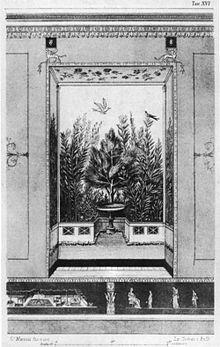 Disegno ottocentesco degli affreschi perduti