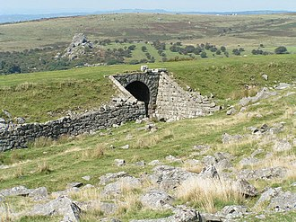 Princetown Railway - The remains of the line near King's Tor, nearby to Foggintor Quarry and Princetown