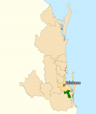 Division of Forde - Division of Forde in Queensland, as of the 2016 federal election.