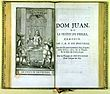 Eerste pagina van Dom Juan (editie van 1682)