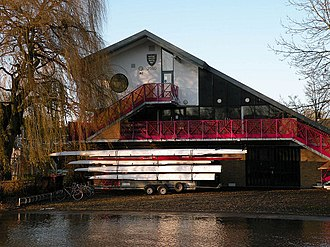 Downing College Boat Club - Image: Downing College Boathouse geograph.org.uk 1633217