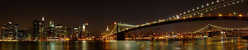 Downtown Manhattan Panorama - from the Brooklyn Heights Promenade, Brooklyn, NY (4871697983)