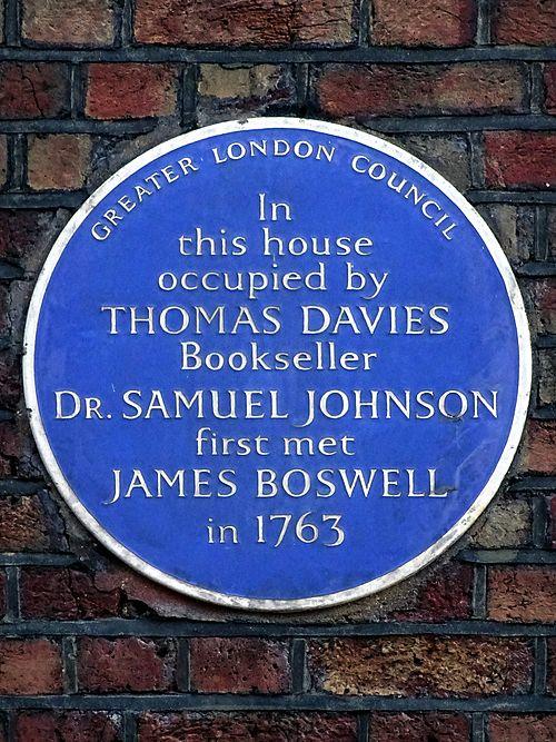 Dr. samuel johnson blue plaque