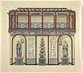 Drawing, Design for the West Wall of the Entrance Hall, Royal Pavilion at Brighton, 1802 (CH 18610045).jpg