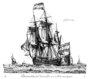 Meermin (VOC ship) - Three-masted, square rigged hoeker: Groenewegen, 1789