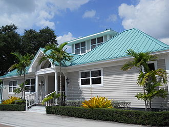 Stuart, Florida - The historic Dudley-Bessey House on SW Atlanta Avenue is now a yacht brokerage office