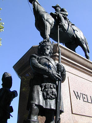 42nd Regiment of Foot - Black Watch depicted guarding Arthur Wellesley, 1st Duke of Wellington.