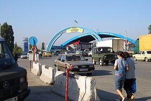 Korday - Entering Kazakhstan at Korday