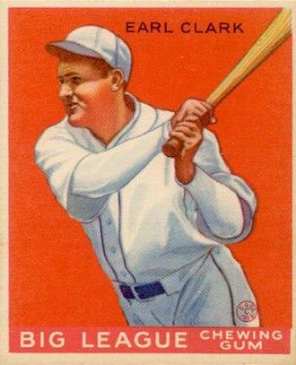 Earl Clark (baseball) - Earl Clark 1933 Goudey baseball card