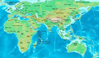 AD 100 - The eastern hemisphere in AD 100