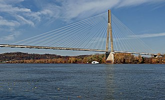 East Huntington Bridge - Image: East End Bridge in Autumn