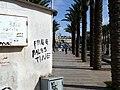 East Jerusalem Graffiti Free Palestine palm trees.jpg