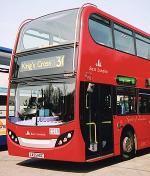Buses in London - East London bus 18500.