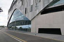 East entrance of Tottenham Hotspur Stadium on Worcester Avenue.jpg