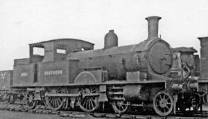 Lyme Regis branch line - Adams 0415 class engine