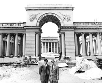 """Mark Cavagnero - Architects Edward Larrabee Barnes and Mark Cavagnero. The 1995 Legion of Honor """"major renovation that included seismic strengthening, building systems upgrades, restoration of historic architectural features, and an underground expansion that added 35,000 square feet."""""""