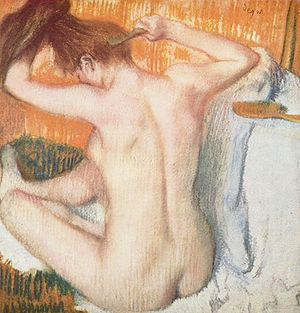 Human back - Painting of a woman's back by Edgar Degas.