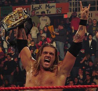 La Familia (professional wrestling) - Edge after winning his fourth WWE Championship.