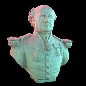 François-Edmond Pâris - Bust of Pâris by Alexandre-Joseph Oliva, on display at the Musée national de la Marine in Paris.